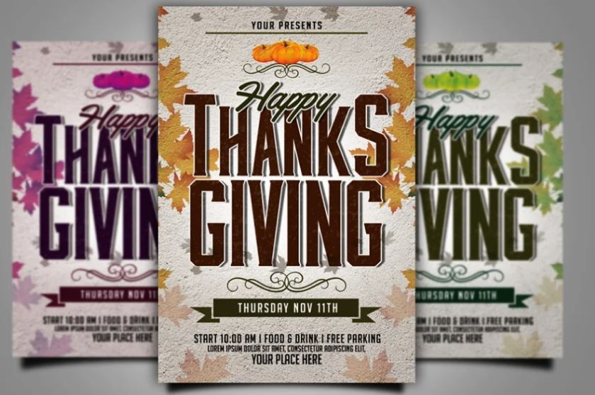 Happy Thanksgiving Day Flyer Template