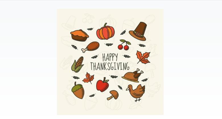 Happy Thanksgiving Day Vectors
