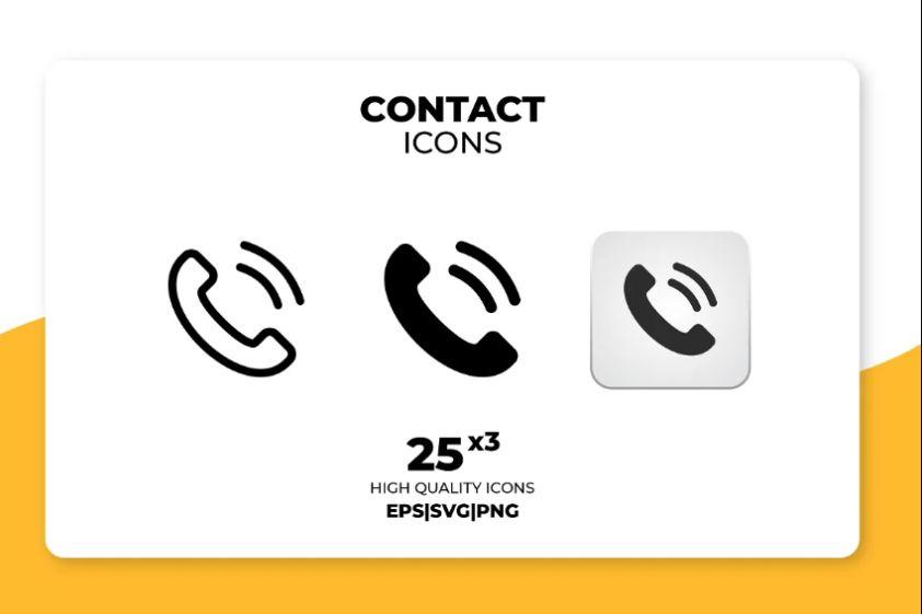 High Quality Contact Vectors