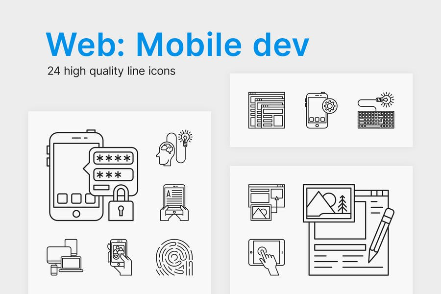 High Quality Mobile and Web Dev Icons