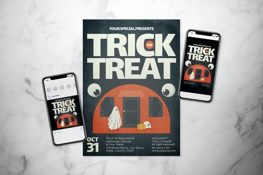 High Resolution Trick or Treat Flyer