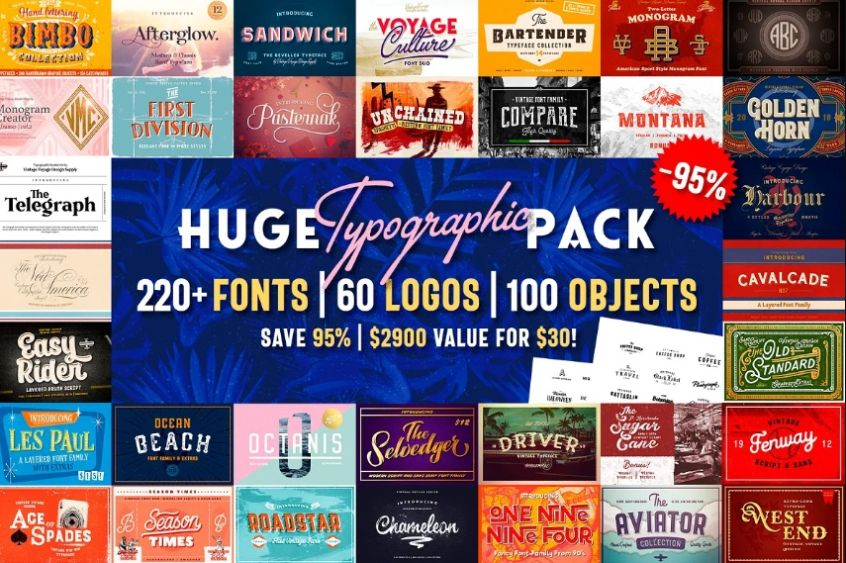 Huge Typography and Logo Fonts