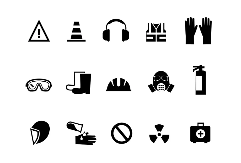 Industrial Safety Icons Set