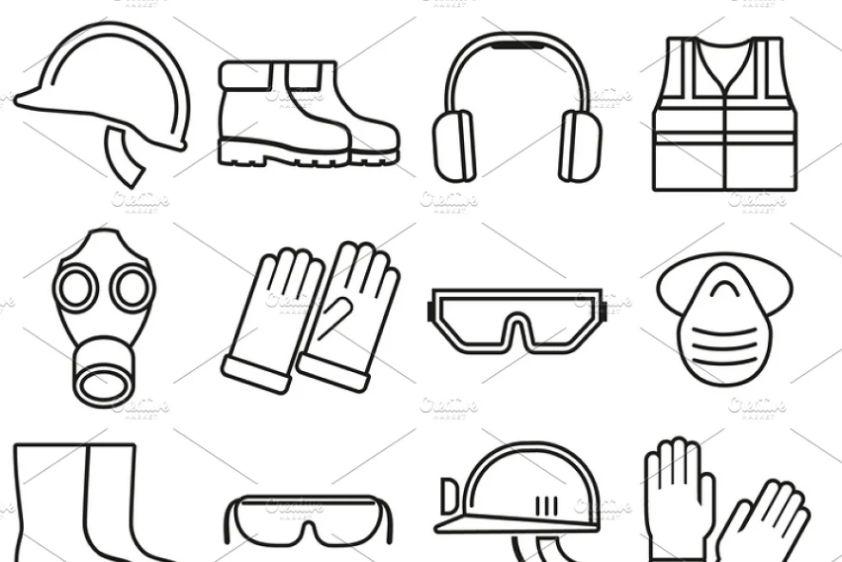Job Safety Equipment Icons