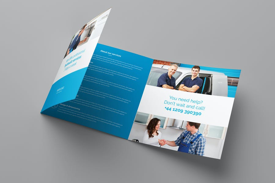 Large Tri Fld Brochure Template