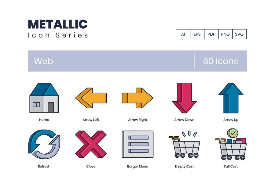 Metallic Style Icon Designs