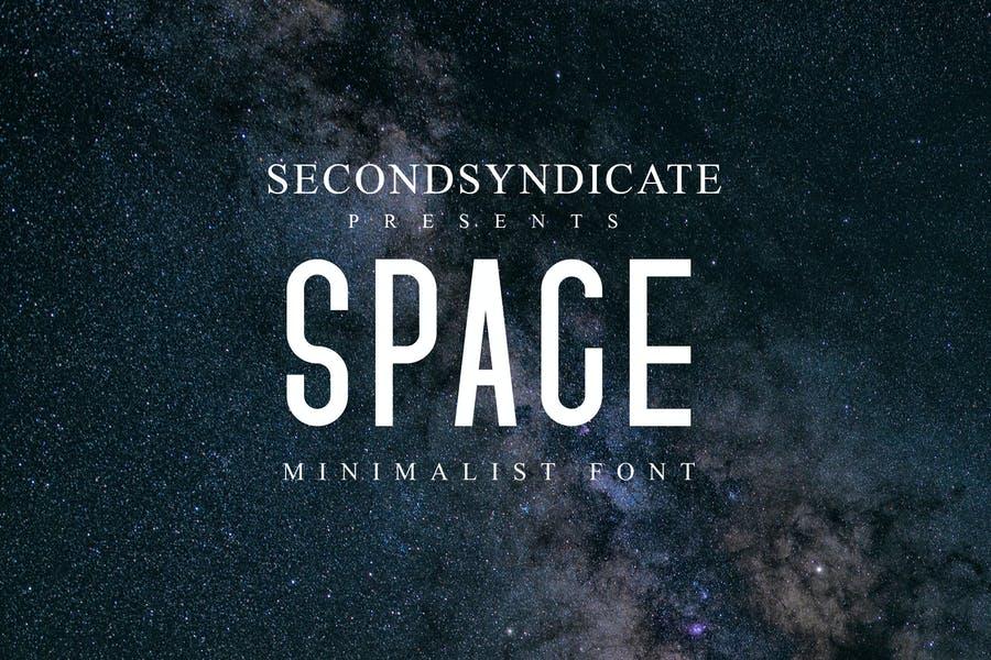 Minimalist Space Typeface