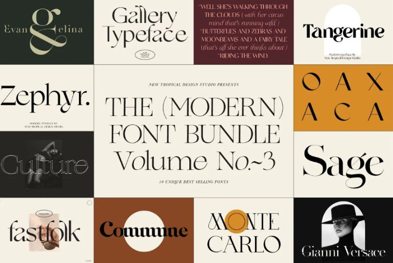 Modern Fashion and Classic Fonts