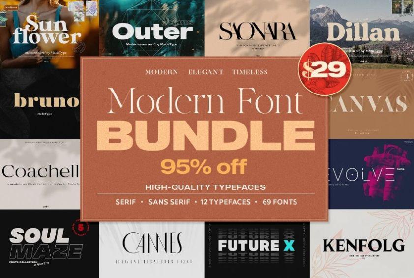 Modern Font Bundle Pack