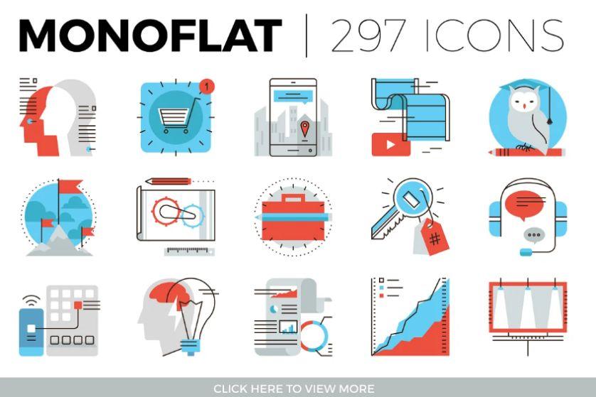 Monoflat Digital Icons