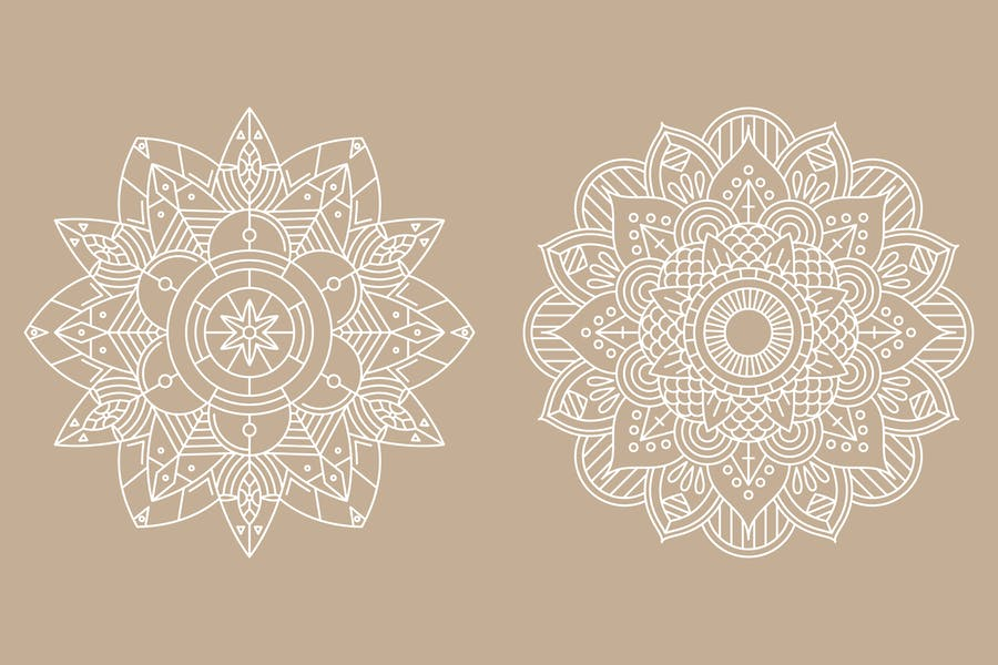 Monoline Mandala Identity Design