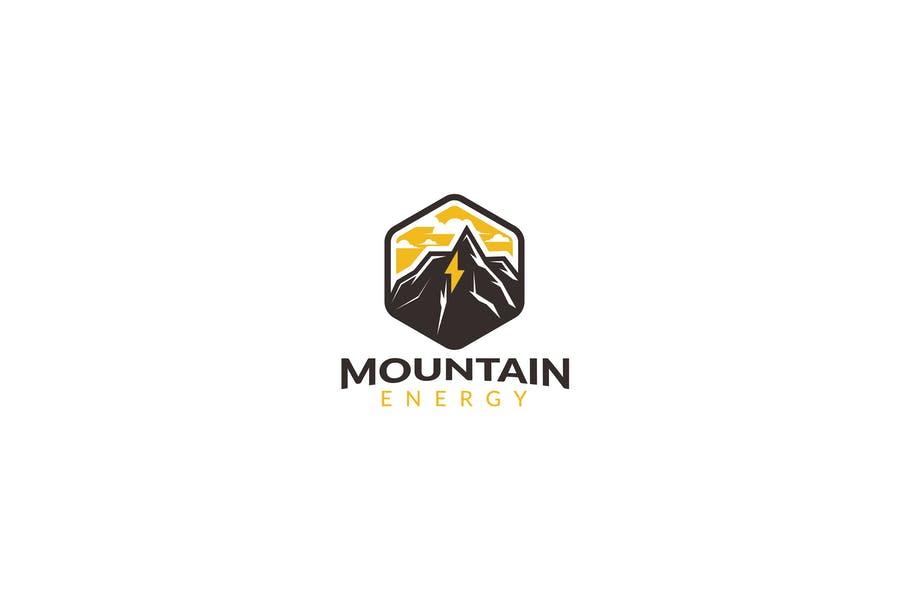 Mountain Peak Logo Template
