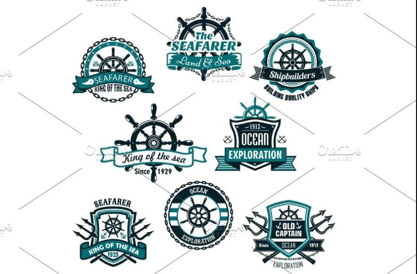 Nautical and Marine Logo Set