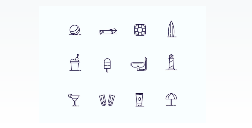 Outline Style Vector Icons