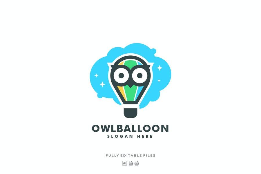 Owl and Balloon Logo Design