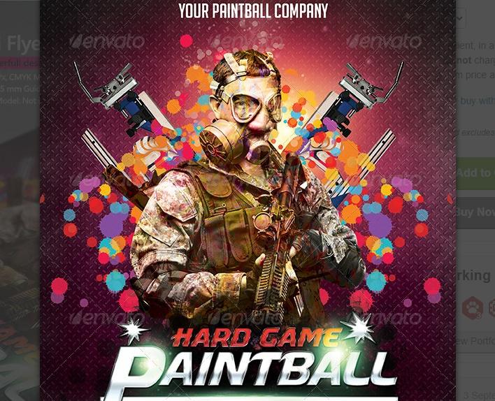 Paint Ball Event Flyer