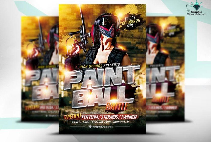 Paintball Bash Flyer Template