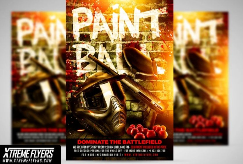 Paintball Game Flyer Design