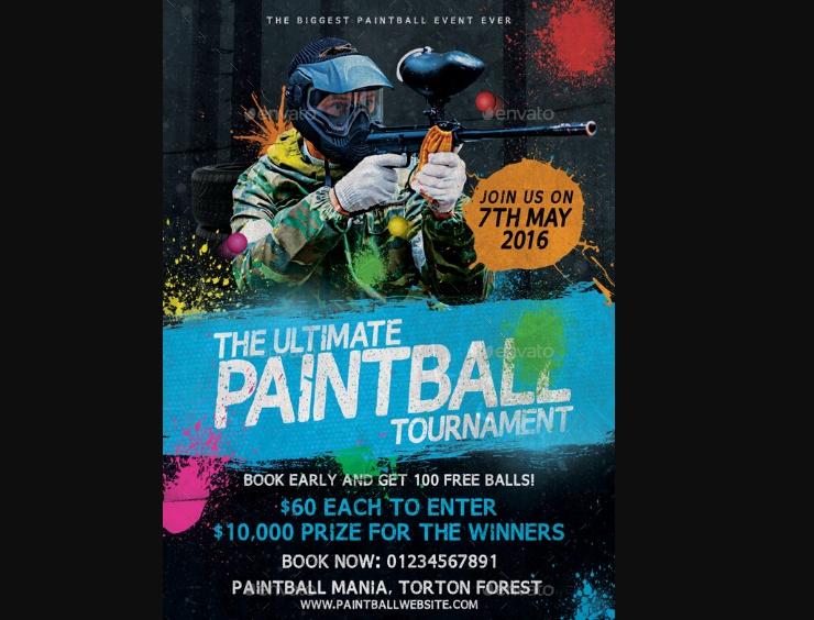Paintball Mania Flyer Design