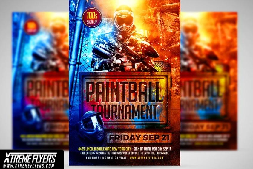 Paintball Tournament Flyer Template