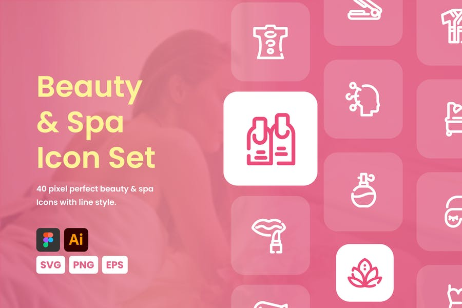 Pixel Perfect Beauty and Spa Icons