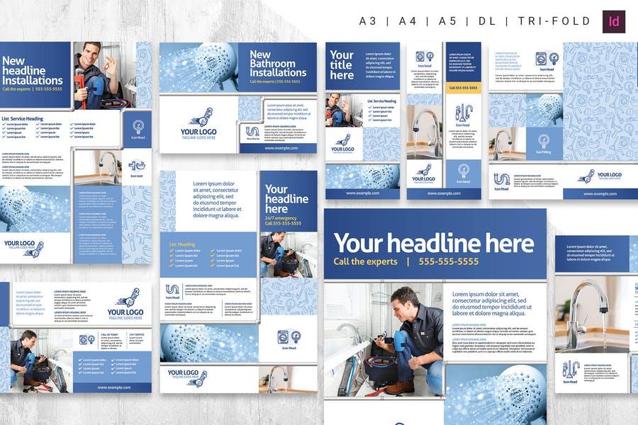 Plumbing Advertising Print Templates