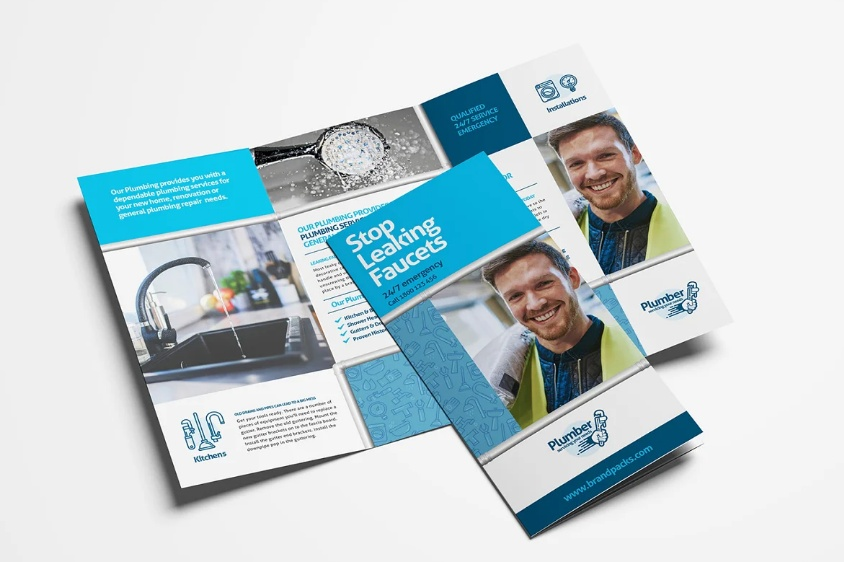 Plumbing Services Brochure Template