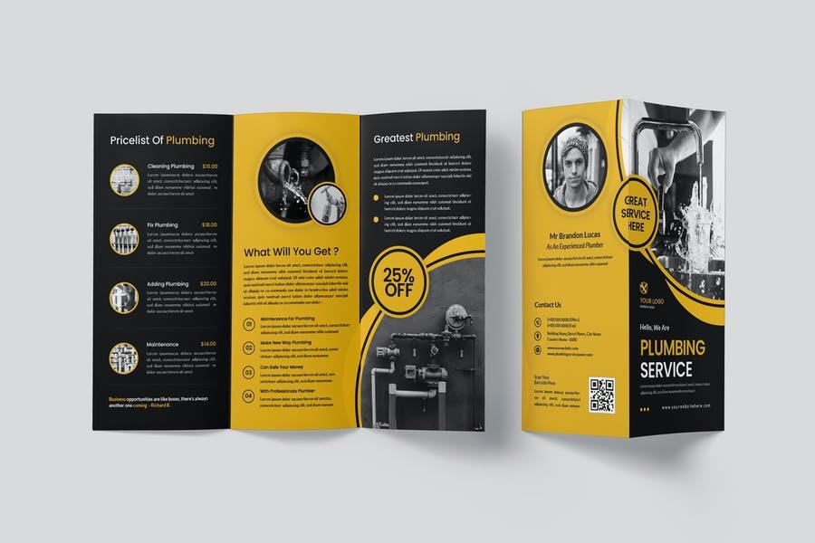 Plumbing Services Tri Fold Brochure