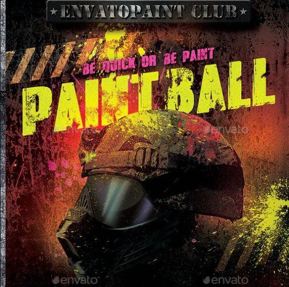 Print Ready Paintball Flyer