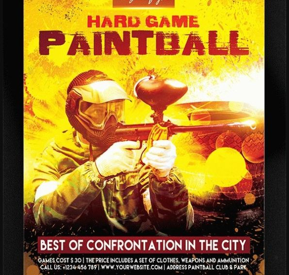 Print Ready Paintball Poster