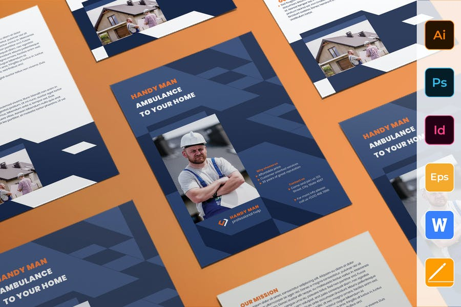 Print Ready Services Flyer Template