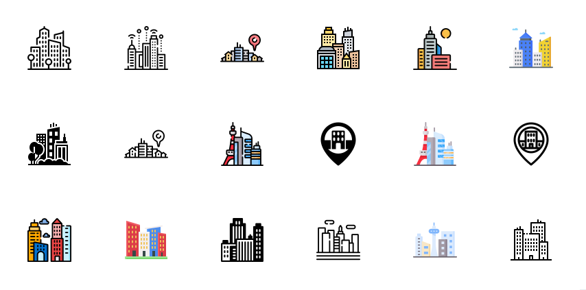 Professional Buildings Icon
