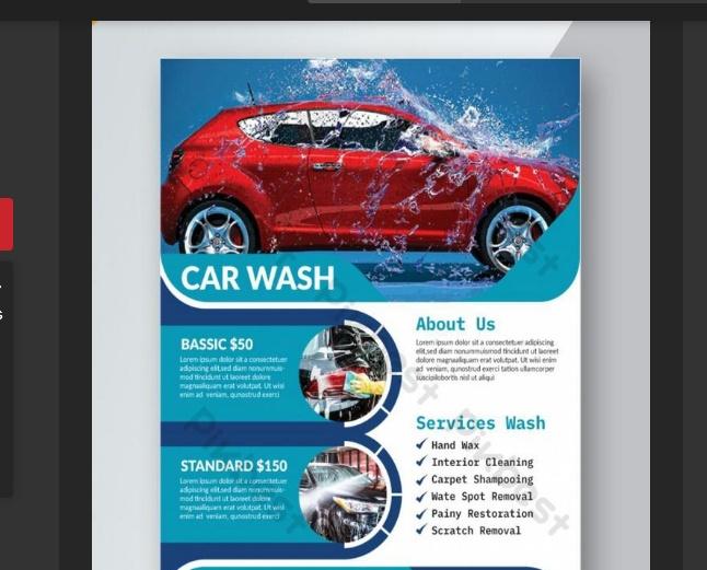 Professional Car Wash Flyer