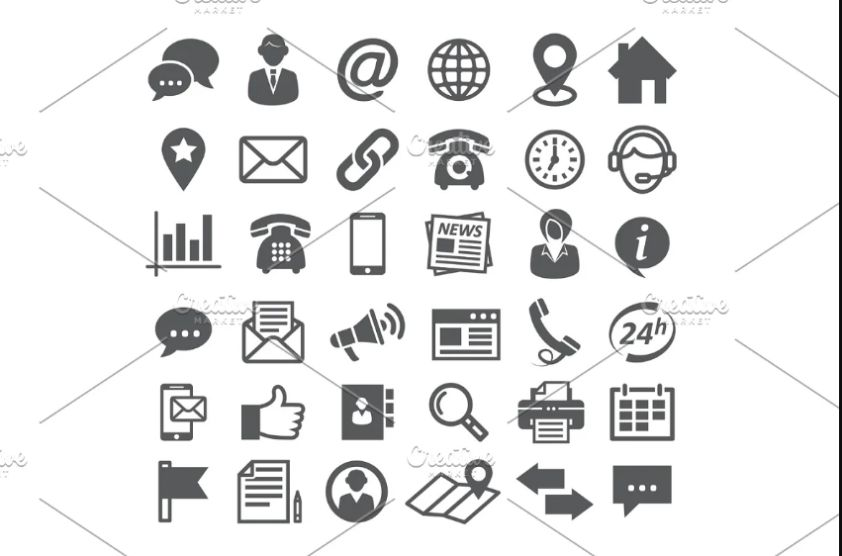 Professional Contact Icons