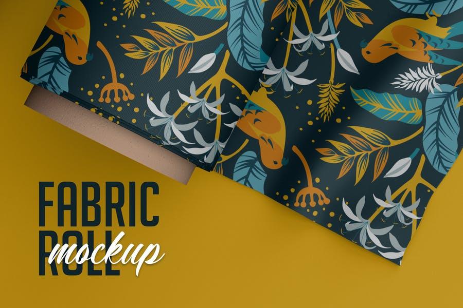 Professional Fabric Roll PSD MOckup