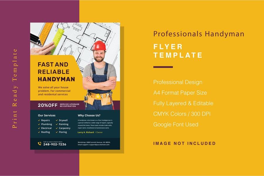 Professional Handyman Promotional Flyer