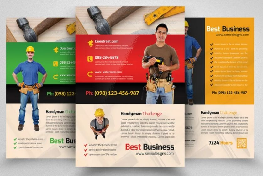 Professional Handyman Services Flyer Template