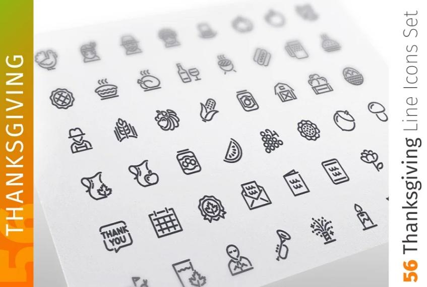 Professional Line Icons Set