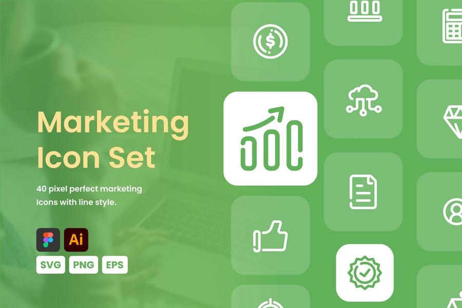 Professional Marketing Icons Set