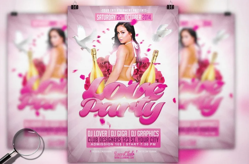 Professional Party Flyer Template PSD