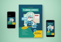 Plumbing Services Flyer Templates