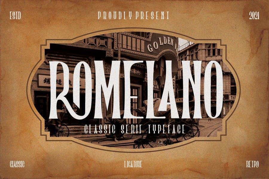 Retro Classic Serif Typeface