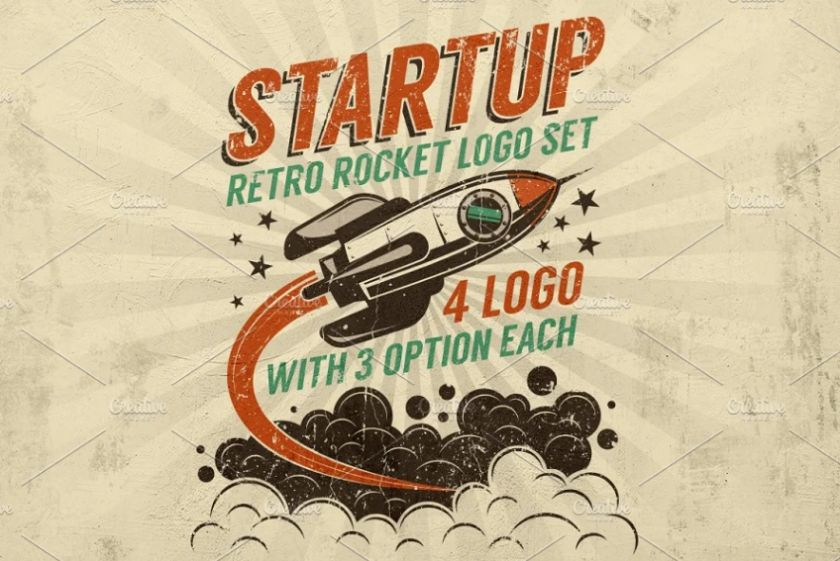 Retro Startup Logo Design Idea