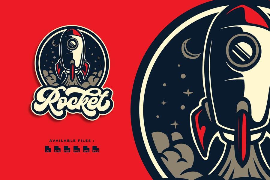 Retro Style Rocket Identity Design