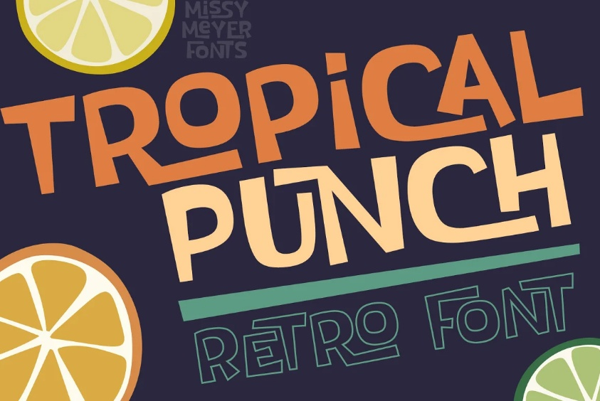 RetroTropical Punch Fonts