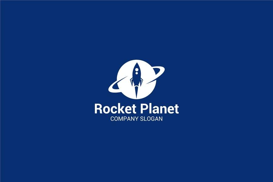 Rocket Planet Logo Template