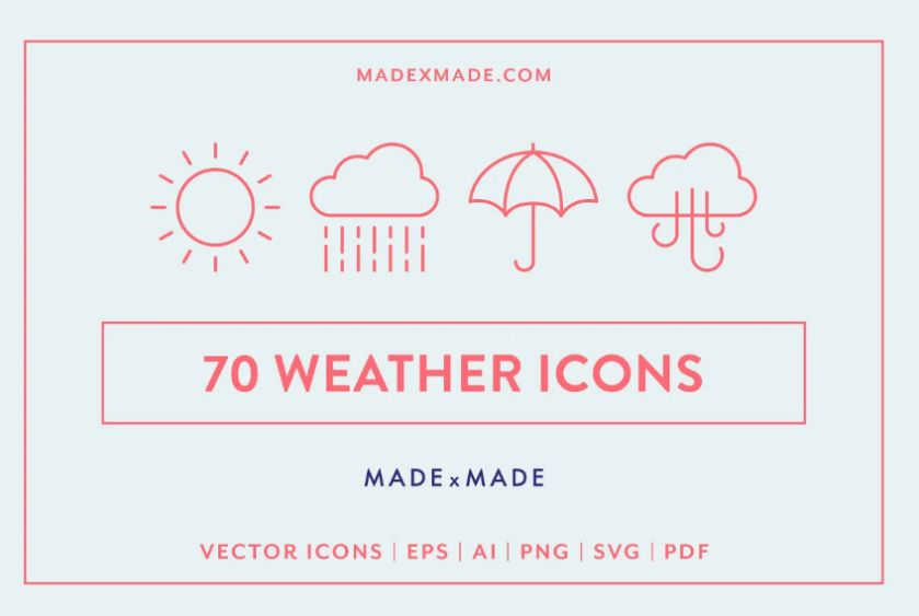 Safety Weather Icons Set