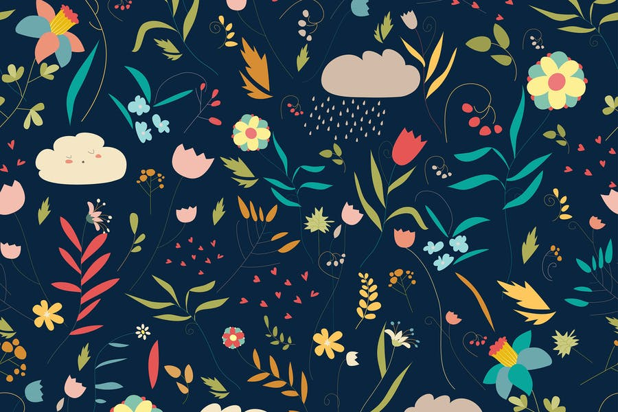 Seamless Colorful Pattern Designs