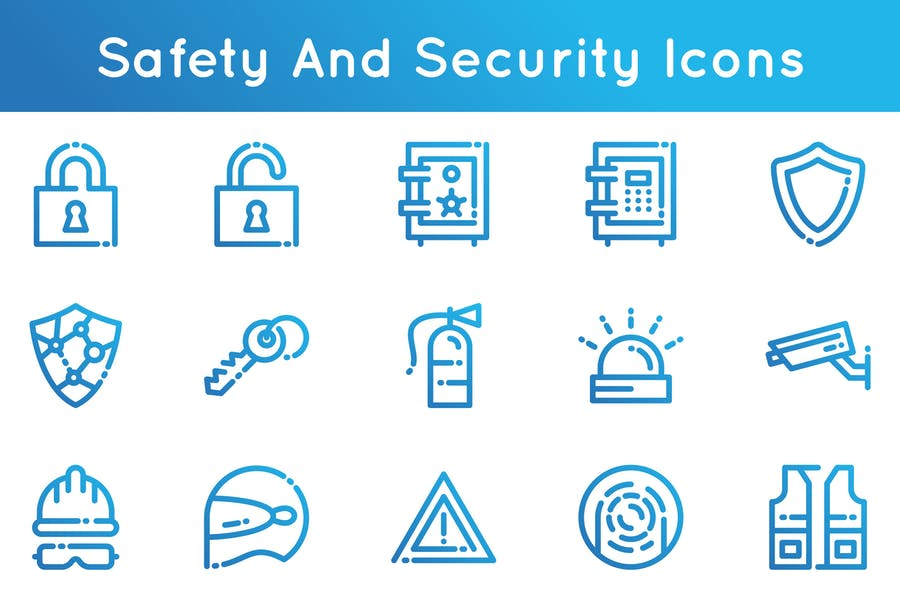 Security and Safety Icon Designs
