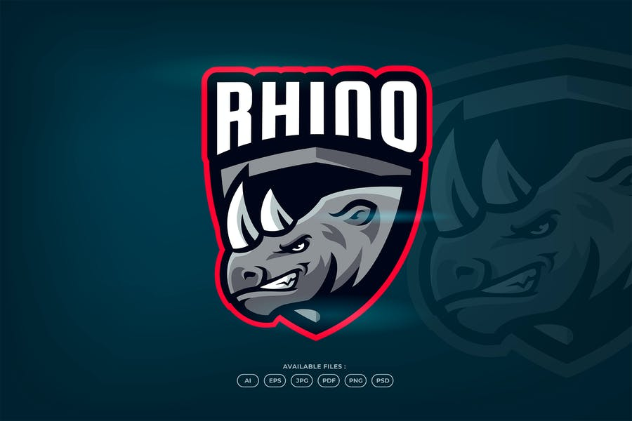 Shie4ld Style Rhino Logotype